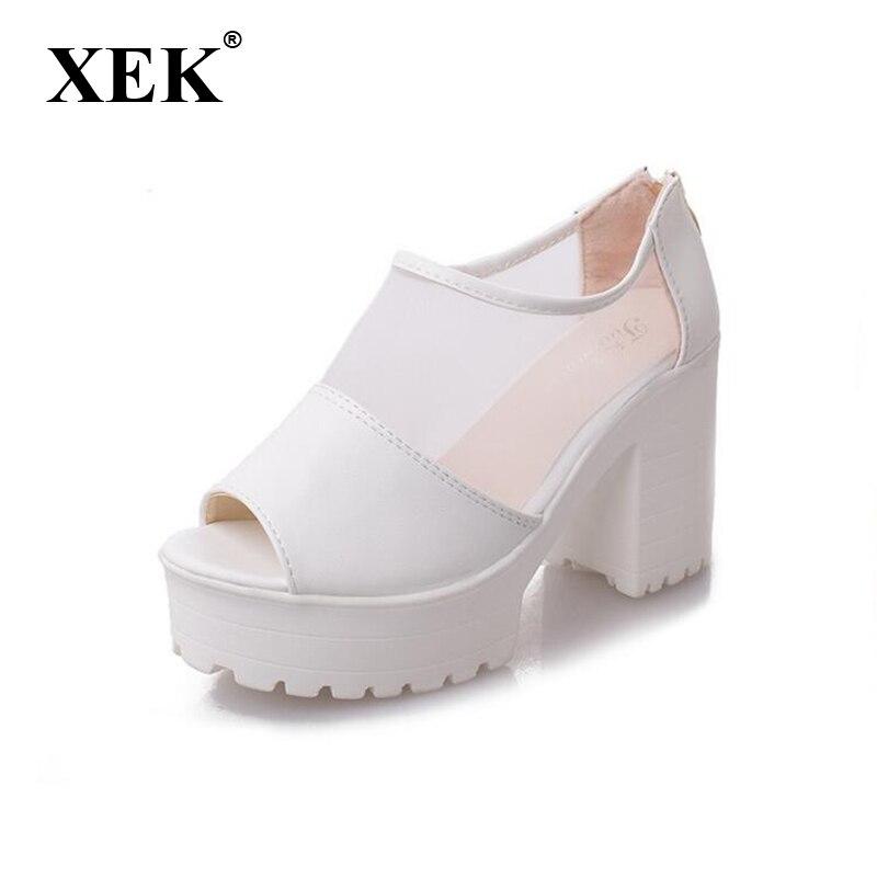St183 Toe Cm 2017 Zapatos 9 Espesor blanco Altos Verano Mujeres Bombas Del Atractivas Nuevas Moda Las Peep Sandalias Plataforma De Tacones Negro qvTgqHwxp