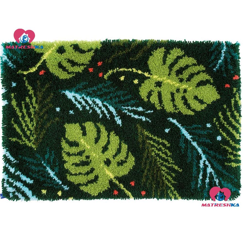 Набор ковриков с крючком защелкой «лист», наборы для рукоделия, ковриковая вышивка, незавершенный ковер для вязания крючком, коврик для подушки, коврик для вышивки ручной работы