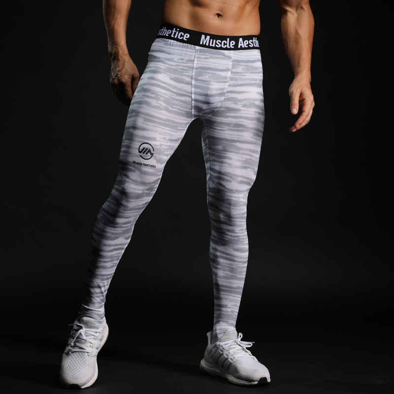 Compression Quick Dry Tight Pants Men Gyms Fitness Leggings Male Jogger Workout Skinny Trousers  MMA Sportswear Bottoms