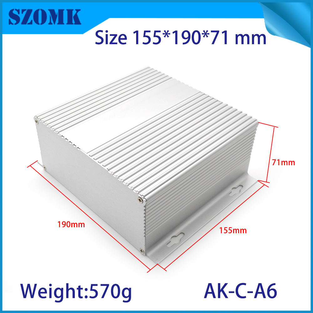цена на 1 piece free shipping aluminum electrical housing with wall mounting aluminum junction box szomk for pcb diy case electronics