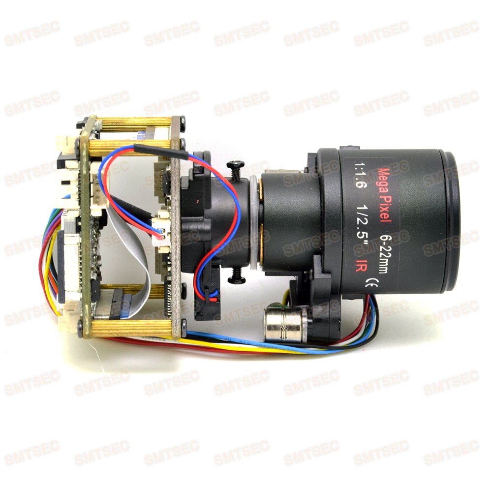 6 22mm Auto Focus Zoom Starlight 2MP 50 60fps IP Camera Module Sony IMX291 Hi3516A CCTV