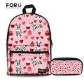 FORUDESIGNS/Школьный рюкзак для девочек далматинцы с цветочным принтом  школьные сумки  подростковые рюкзаки  ранец  школьный рюкзак для студент...