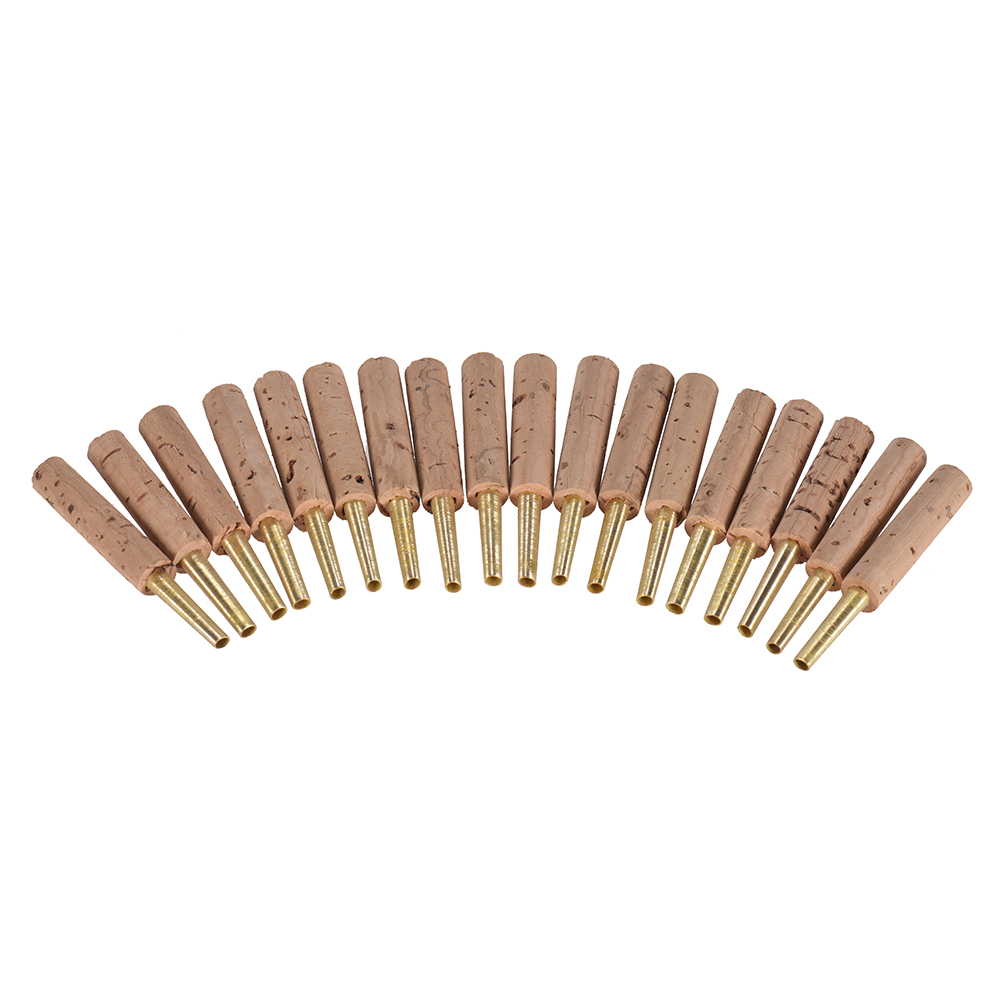 18pcs/ Pack Ammoon Oboe Reeds Staple Tubes Parts 47mm With Plastic Case Woodwind Instrument Musical Accessories