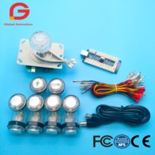LED Arcade Game DIY Parts kit for PC and Raspberry Pi 1/2/3 with Retro Pie 5Pin Joystick 8x 30MM and 2x 24MM Buttons Mame Kits цена и фото