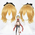 Anime Re: Life in a Different World from Zero Felt Feruto Cosplay Wig 35cm Blonde Yellow Short Curly Cos Wig Synthetic Hair Wigs