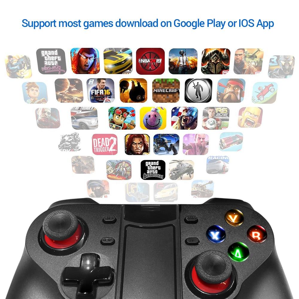 K ISHAKO Smartphone inalámbrico Joystick Gamepad Android controlador Control Bluetooth para IOS y Android PC Smart TV con el apo in Gamepads from Consumer Electronics