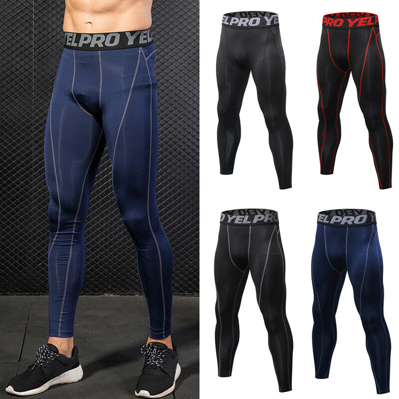 Men Sportswear Apparel Pants Gym Compression Base Layer Long Trousers Leggings Runing Trainning Exercise Pants