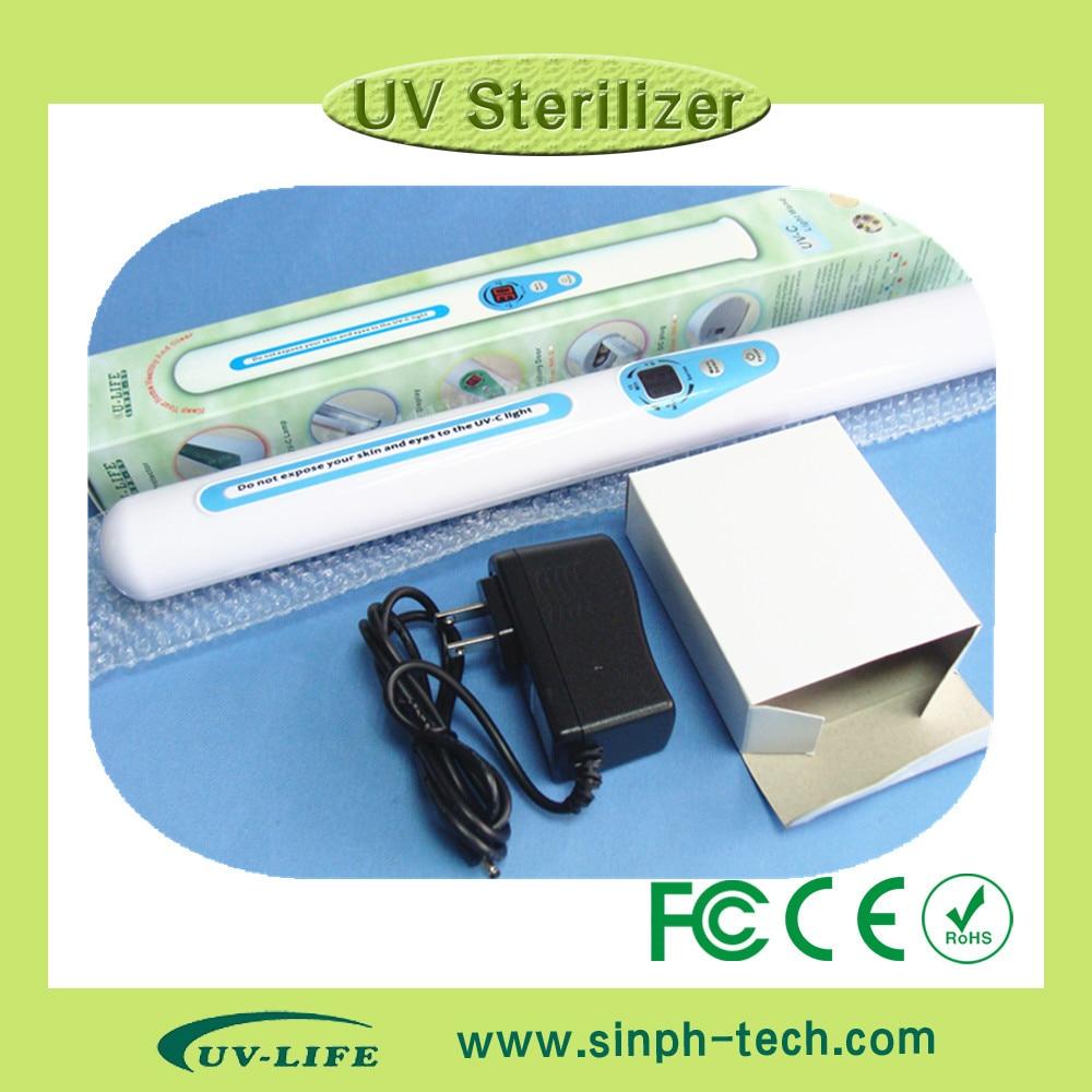ФОТО Multi-Function UV  Sterilizer Portable UV Sanitizer Hand Wand Ultraviolet Light Kill Bacteria Germ Sterilizer + 2pcs lamps