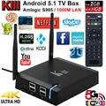 Kiii s905 kodi tv box amlogic del androide 5.1 2 gb 16 gb de 15.2 Bits Dual WIFI 2.4G y 5G LAN Gigabit BT 4.0 K3 tv box media player