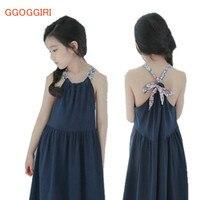 GGOGGIRI 브랜드 큰 Chlidren 의류 새로운 여자 여름 패션 꽃 교정기 코튼 품질 Sandbeach 인과 민소매 드레