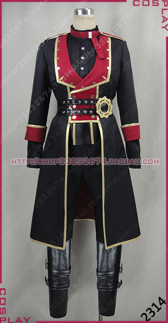 Ensemble Stars Kagehira Mika Halloween Black Suit Set Cosplay Costume S002