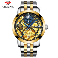 Top Luxury Brand Tourbillon Men Watches Male Business Clock Men Stainless Steel Steampunk Skeleton Automatic Mechanical