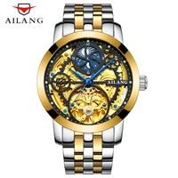 Top Luxury Brand Tourbillon Men Watches Male Business Clock Men Stainless Steel Steampunk Skeleton Automatic Mechanical Watch