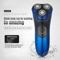 Электрическая бритва для мужчин Barbeador Eletrico Masculino  3D Тройная плавающая головка  триммер для бритья  уход за лицом