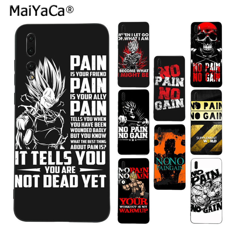 dd8f4af589c2 Detail Feedback Questions about MaiYaCa dragon ball No pain no gain Coque Phone  case for Huawei Mate10 Lite P20 Pro P9 P10 Plus Mate9 10 Honor 10 View 10  ...