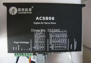 Leadshine servo driver ACS806 work at 48- 80VDC Out 0A to 18A work with 400W servo motor ACM604V60-01-2500 CNC new 400w leadshine ac servo motor acm604v60 01 1000 work 60v run 3000rpm 1 27nm encoder 1000 line work with servo driver acs806
