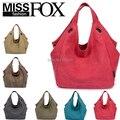 Promotin 100%contton Women Solid Shoulder Bag Fashion Casual Canvas Designer Women Handbag High Quality Large capacity Tote Bags
