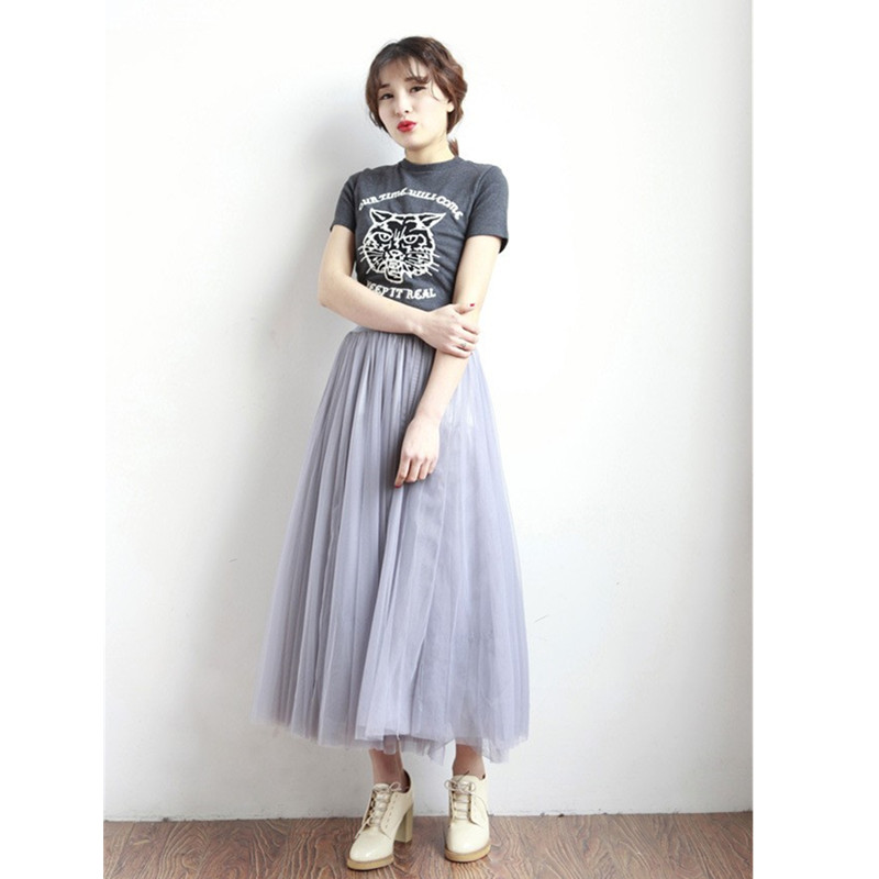 new faldas korean style 10 m big swing maxi skirts womens