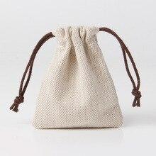Bolsas de regalo de algodón bolsa de joyas con diseños personalizados
