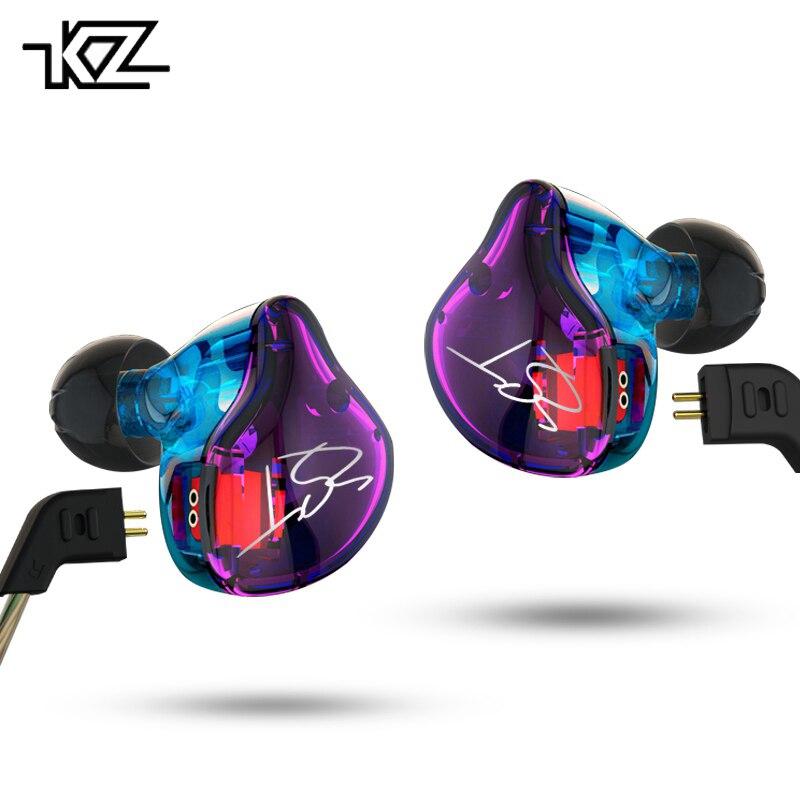 Hot KZ ZST 1DD+1BA Hybrid In Ear Earphone HIFI DJ Monito Running Sport Earphones Earplug Headset Earbud With Microphone