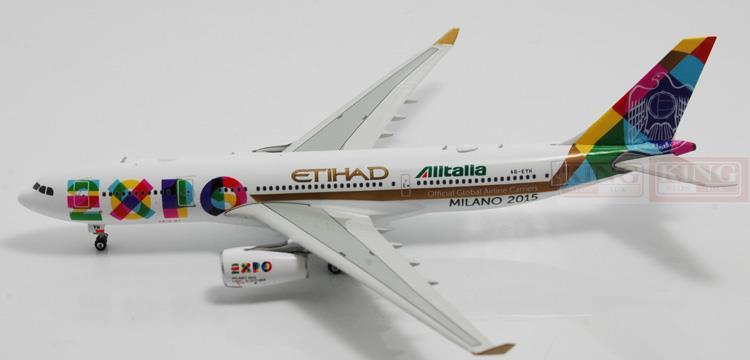 Phoenix 11036 Etihad Airways A330-200 Expo 2015 1:400 commercial jetliners plane model hobby new phoenix 11207 b777 300er pk gii 1 400 skyteam aviation indonesia commercial jetliners plane model hobby