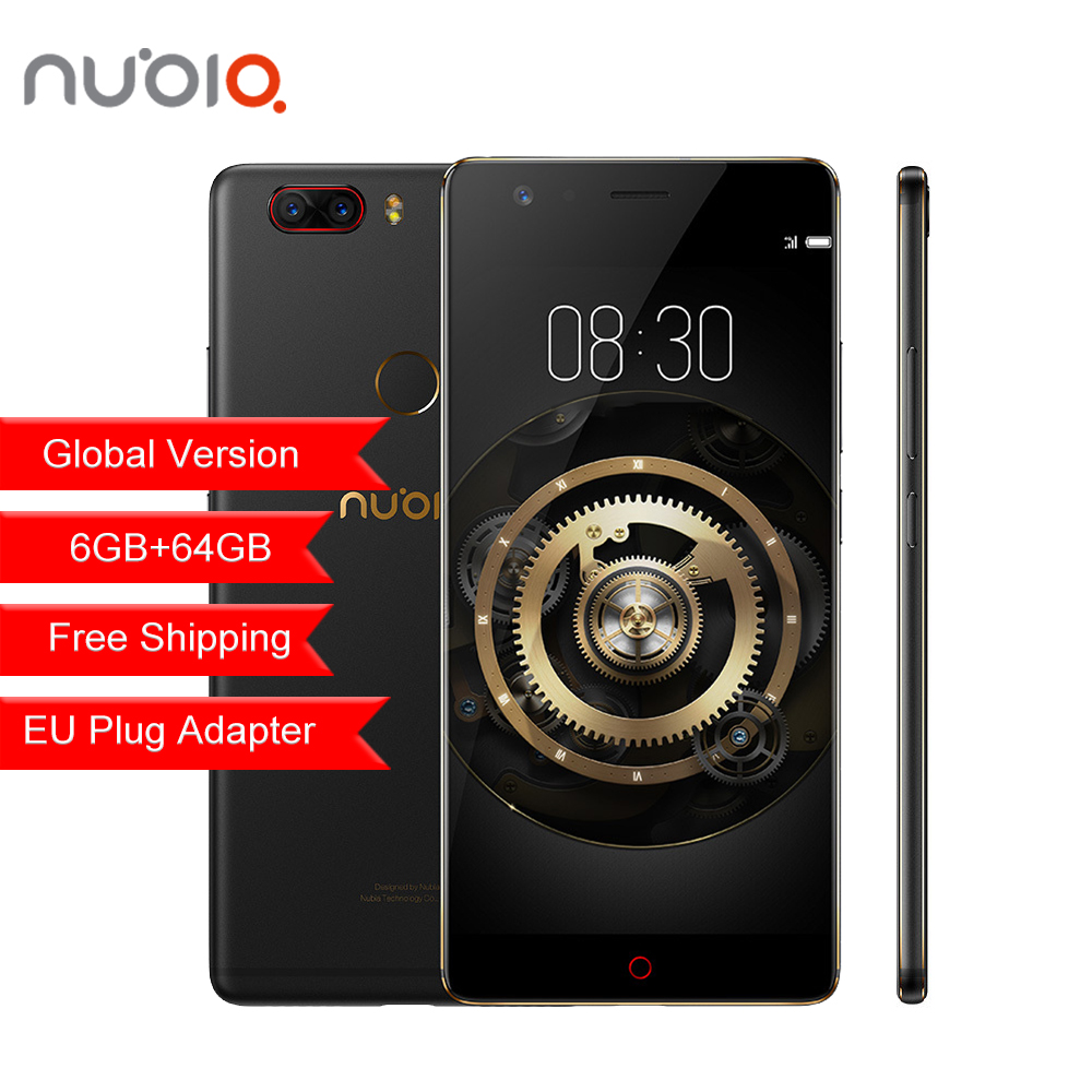 Global Version ZTE Nubia Z17 Lite Mobile Phone 6GB 64GB Android 7.1 5.5 Inch 4G LTE 13.0MP Dual Rear Camera Octa Core