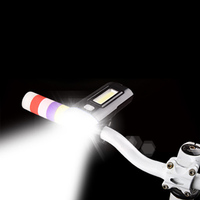 COB Super Bright Rechargeable Bicycle Lights Handlebar Cycling LED Light 18650 Battery Flashlight Torch Front Lamp