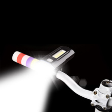 COB super bright Rechargeable Bicycle Lights Handlebar Cycling LED Light 18650 Battery Flashlight Torch Front Lamp bike light цена