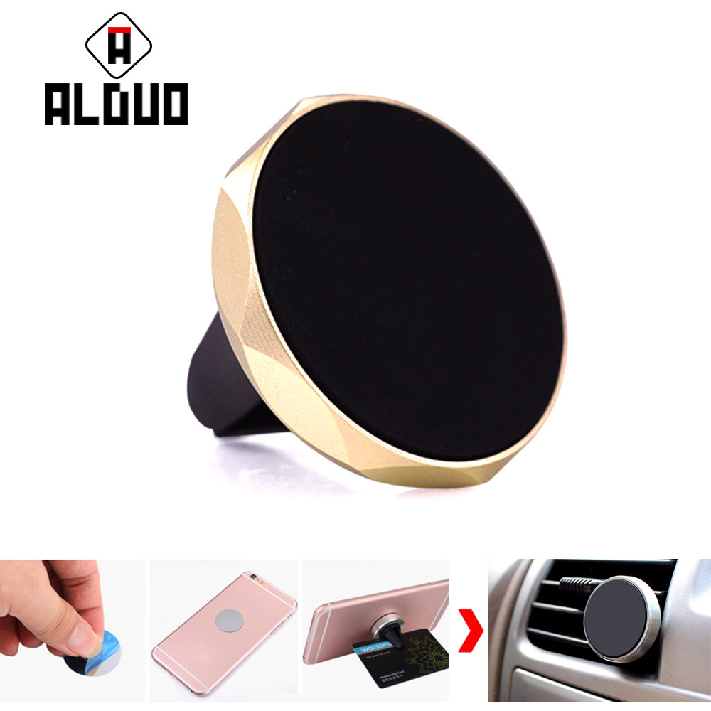 ALANGDUO Universal Car <font><b>Holder</b></font> For <font><b>iPhone</b></font> 6 7 Air Vent Mount Magnetic Car Phone <font><b>Holder</b></font> For Samsung S8 GPS Bracket Phone Stand