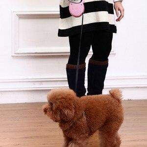 Image 3 - สายจูงสัตว์เลี้ยงแบบพับเก็บได้ Blue & Pink Rhinestone Bling คริสตัลสุนัขลูกสุนัขสัตว์เลี้ยงสายจูง 3M สายแบน