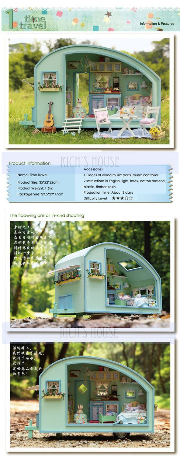 Time Travel Diy 3d Doll House Kit Miniature Scenes With Music And