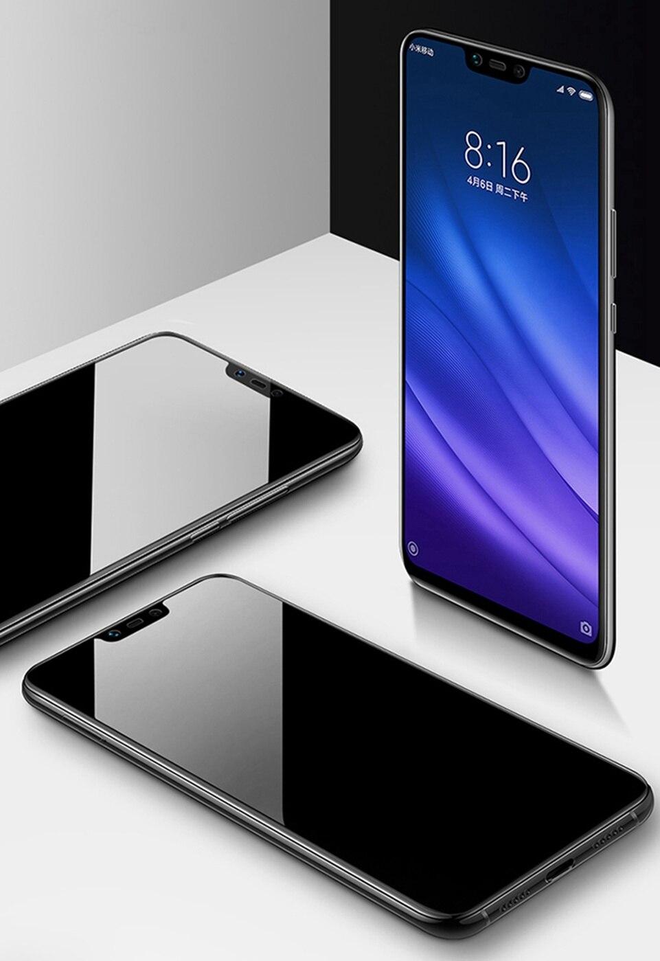 GzPuluz Glass Screen Protector 25 PCS 9H 5D Full Glue Full Screen Tempered Glass Film for Xiaomi Redmi Note 6 Pro