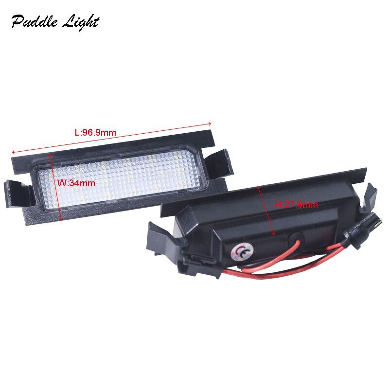 06 2x 18smd הלבן רכב שגיאת סטיילינג אור לוחית רישוי חינם LED עבור KIA PRO CEED (06-11) יונדאי I30 (GD) מנורות צלחת מספר זנב מכונית (3)