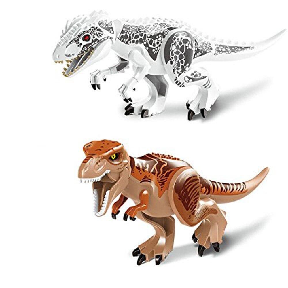 Original Jurassic World Tyrannosaurus Building Blocks Jurrassic Park 4 Dinosaur Figures Bricks Toys Compatible with Legoelieds jurrassic dinosaur figures building blocks world tyrannosaurus model bricks toys for children compatible with legoinglys