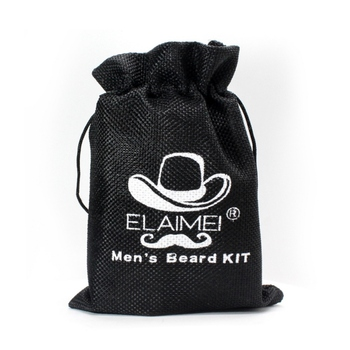 Men Beard Care Kits Beard Wax/Oil/Comb/Brush/Scissor Beard Styling Tools Set For Gift 6