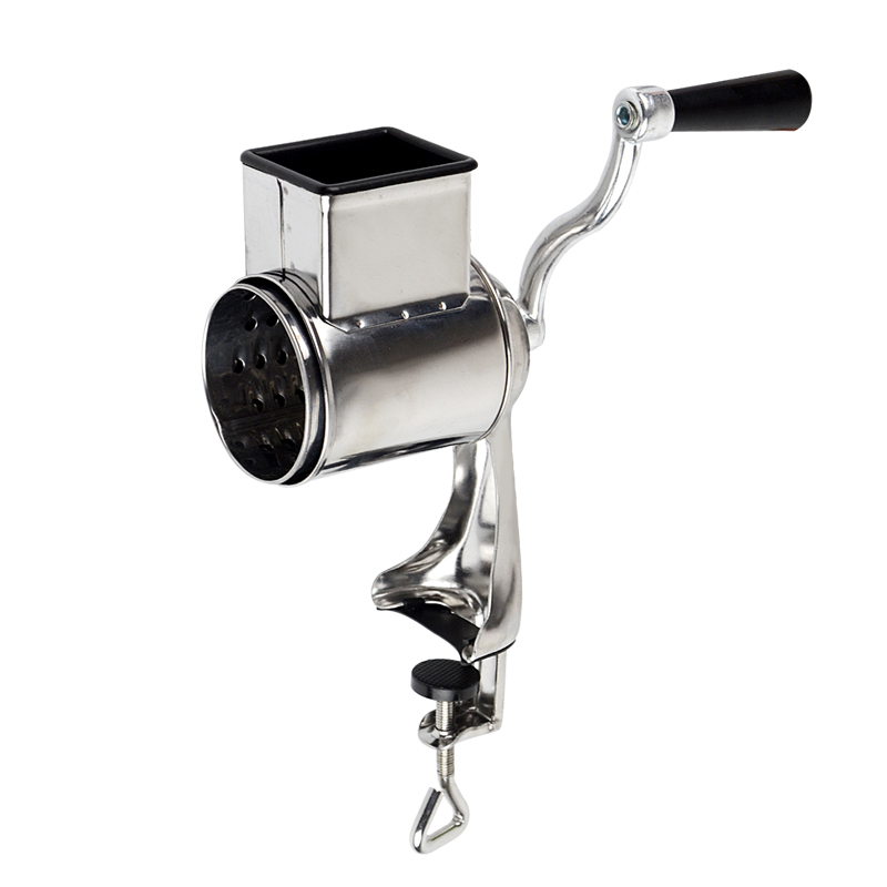 Manual table top mounted nut seed grinder metal hand operated food mill kitchen tool rotary cheese grater