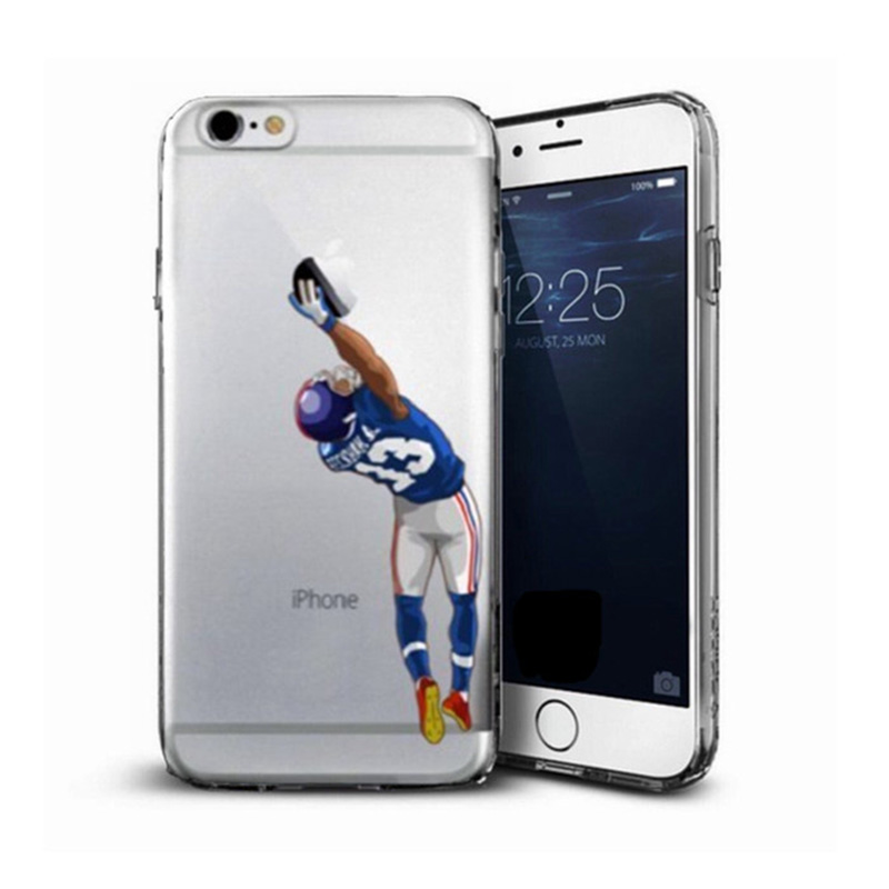 Clearance Cartoon Clear Case for iphone 7 7plus 6 6s 6plus 5 5s American sports stars Newton