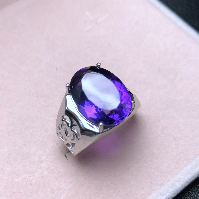 Natural Amethyst Men's Ring, Made Of 925 Silver, Heavy Silver, Beautiful To Get Started