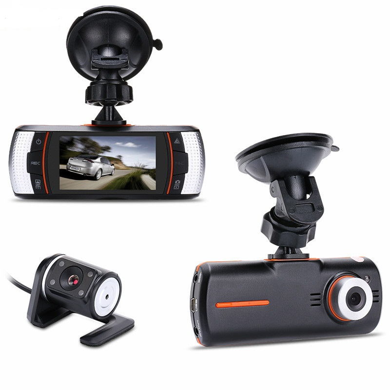 New 2.7 F90 Dual lens car DVR Camera Recorder HD 1280*720P 140 degree+Rear IR Camer HDMI H.264 G-sensor 2 7 car dvr dual camera full hd 1080p allwinner car camera recorder front 140 rear 120 degree night vision hdmi g30b