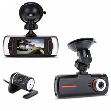 "Nuevo 2.7 ""f90 coche Dual DVR Cámara Grabadora de HD 1280*720 P 140 grados + IR Trasero Camer HDMI H.264 g-sensor"
