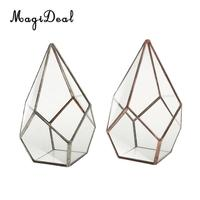 2Pcs Air Planter Succulent Diamond Glass Geometric Terrarium