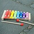 Cores doces Mão de madeira Bater de Piano De Madeira Crianças Brinquedo Xilofone instrumento musical brinquedo Aprendizagem precoce de Música Rhythm