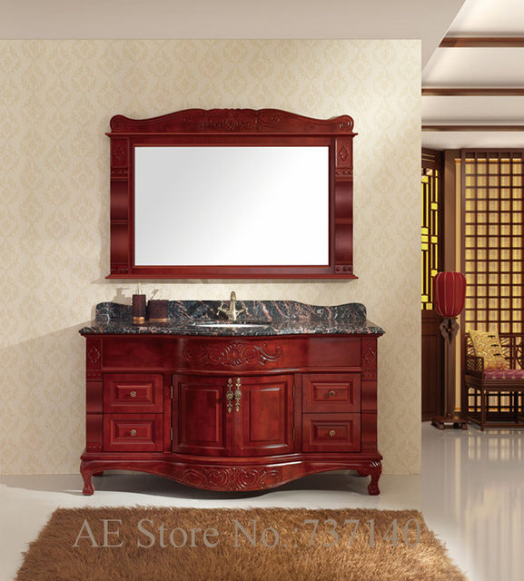 Bathroom Furniture Wood Solid Cabinet With Mirror And Basin Ing Agent Whole Price