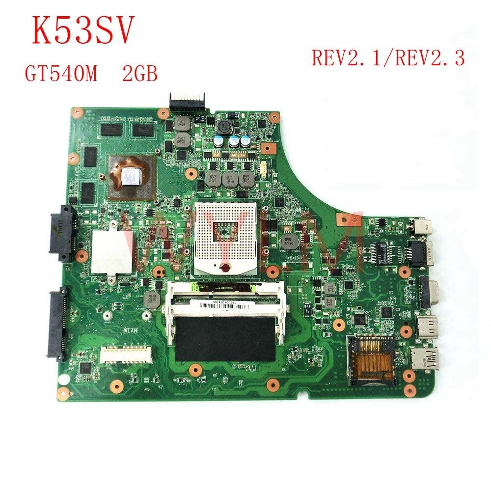 Бесплатная доставка K53SV GT540M 2 ГБ USB2.0 REV2.3/2,1 плата для ASUS K53S X53S A53S P53S Материнская плата ноутбука N12P-GS-A1 100% тестирование