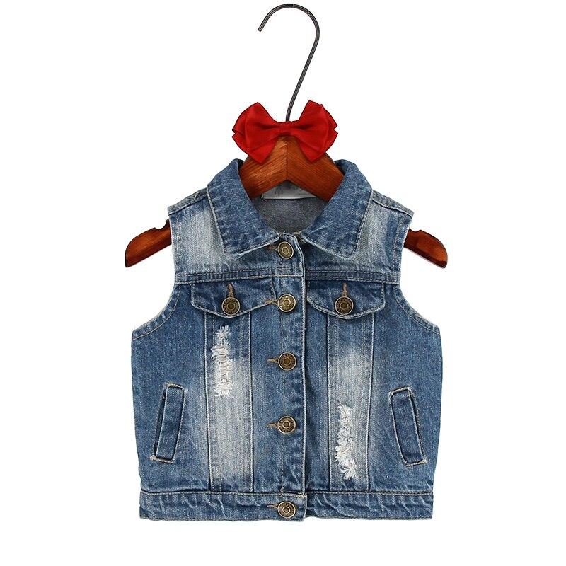Barn flickor ytterkläder våren höst barnen denim kläder flicka - Barnkläder - Foto 2