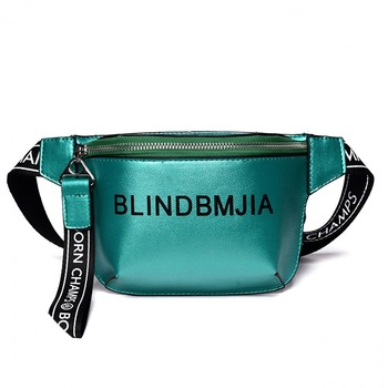 Fashion PU Leather Waist Bag Women Letter Fanny Packs Belt Bag Female Chest Handbag Drop Ship Travelling Mobile Bum Bag