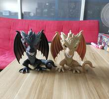 Game of Thrones Drogon Dragão Negro 46 & Viserion 34 Vinil Figura Modelo Brinquedos Presentes 15 centímetros(China)