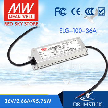 цена на Steady MEAN WELL ELG-100-36A-3Y 36V 2.66A meanwell ELG-100 36V 95.76W Single Output LED Driver Power Supply A type