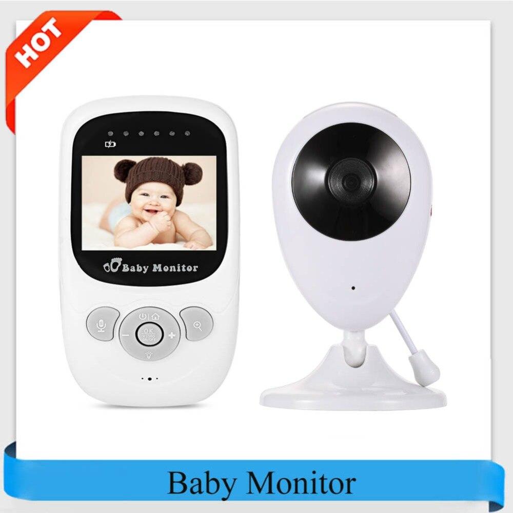Profissional SP880 Câmera Sem Fio Baby Monitor Night Vision Two-way Monitor de Sono 2.4 polegada Display LCD de Detecção De Temperatura