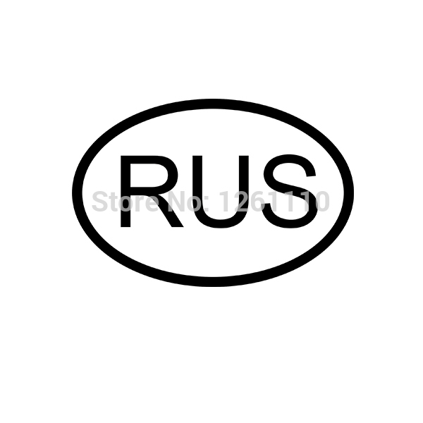 Rus russia country code oval jdm reflective vinyl sticker lettering car truck bumper decal motocross motorcycle aufkleber in car stickers from automobiles